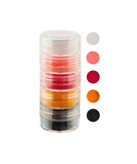 Набор цветной акриловой пудры в тубе, 5 цветов, 10 мл (01)