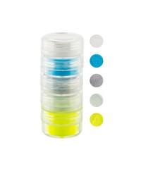 Набор цветной акриловой пудры в тубе, 5 цветов, 10 мл (02)