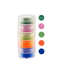 Набор цветной акриловой пудры в тубе, 5 цветов, 10 мл (03)