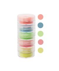 Набор цветной акриловой пудры в тубе, 5 цветов, 10 мл (05)