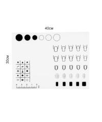 Коврик силиконовый для нейл-арта (30x40 см), 20 шаблонов