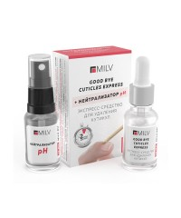 MILV, Набор GOOD BYE CUTICLES EXPRESS & Нейтрализатор pH