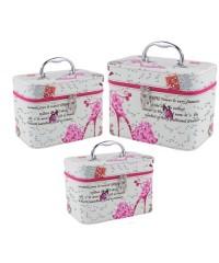 Набор чемоданчиков для косметики 3 в 1, Туфелька