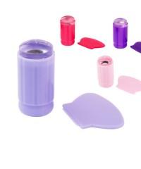 Печать для стемпинга со скрапером (прозрачная с крышкой)