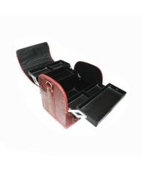 Профессиональный кейс 30 СМ - 23 СМ - 25 СМ, экокожа, розовый с чёрными ручками
