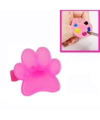 IRISK, Мини-палитра пластиковая на палец, ярко-розовая лапка