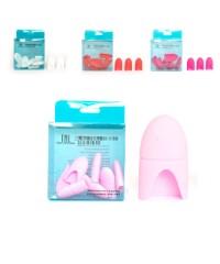 Колпачки силиконовые для снятия искусственных покрытий (цвет в ассорт.), 10 шт.