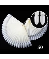 Дисплей-веер на кольце миндалевидный, 50 делений, матовый