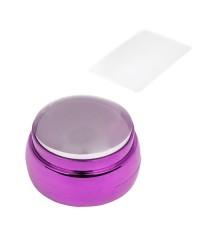 Печать для стемпинга прозрачная, призма