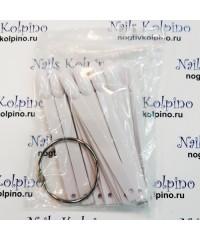 Дисплей-веер на кольце миндалевидный 50 делений, белый