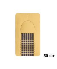 Формы в пакете узкие золотые IRISK, 50 шт