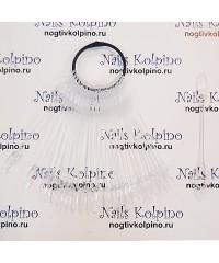 """Палитра веер 24 шт. прозрачная Овал с фигурным основанием """"Брошь"""""""