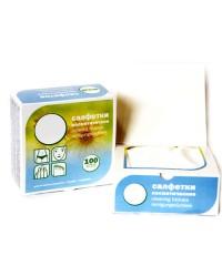 Салфетки косметические безворсовые в коробке10х10 см