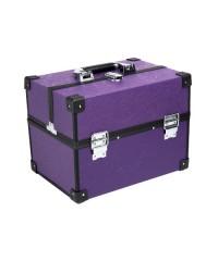 Саквояж профессиональный с узорами (32х22,5х23,5 см), Фиолетовый