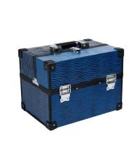 Саквояж профессиональный с узорами (32х22,5х23,5 см), Синий