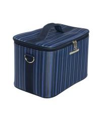 Саквояж средний тканевый для визажа, синий (29х20х20 см)