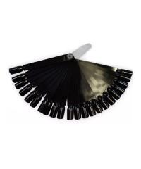 Палитра для лаков на пластиковом держателе (32 шт) чёрная