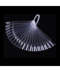 Палитра для лаков на пластиковом держателе (32 шт) прозрачная