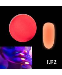 Порошок люминофор красный (светится в темноте) для дизайна ногтей LF2