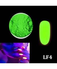 Порошок люминофор зеленый (светится в темноте) для дизайна ногтей LF4