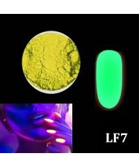Порошок люминофор зеленый(светится в темноте) для дизайна ногтей LF7