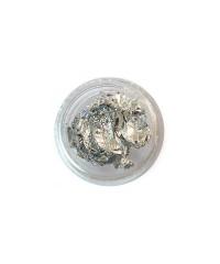 Фольга сжатая в баночке серебро