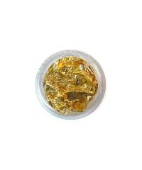 Фольга сжатая в баночке золото