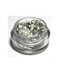 Сжатая фольга для ногтей в баночке (серебро)