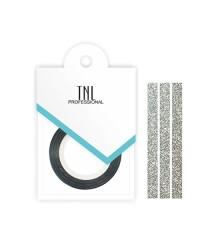 Нить на клеевой основе (перламутровая серебряная) для дизайна ногтей, 3мм
