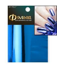 Фольга для дизайна ногтей (синяя) 22