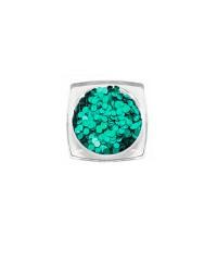 Пайетки голографические, зеленые 3796