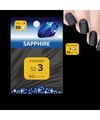 MILV, Стразы для дизайна SS3 (стекло 1.3-1.5 мм.) SAPPHIRE 50шт