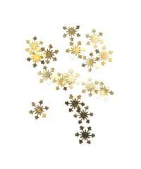 Снежинки металл (золотые) 20 шт.