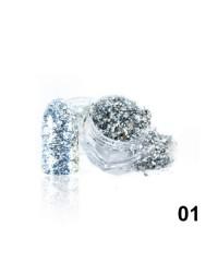 Алмазные хлопья для дизайна № 01