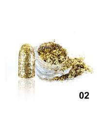 Алмазные хлопья для дизайна № 02