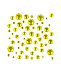 Стразы цветные микс размеров в баночке CITRINE 12