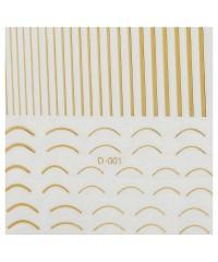 Ленты гибкие микс для дизайна золото D-002