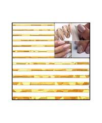Лента гибкая для дизайна золото голография 004