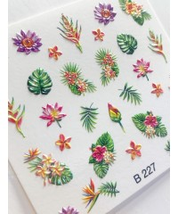 3D Слайдер Цветы B227