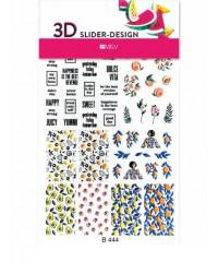 Стикер для дизайна 3D Надписи B444
