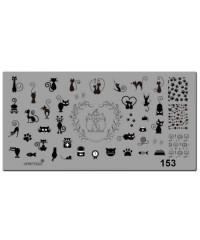 Пластина для стемпинга металлическая на пластиковой основе 12x6 см №153