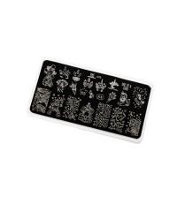 Пластина для стемпинга Premium сказочный единорог (078)