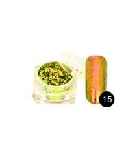 TNL, Втирка в гель-лак - Хлопья Юки №15 (циркониевый гиацинт)