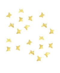 Дизайн золотистый металл - Бабочки маленькие (20 шт)