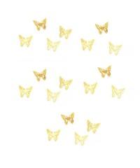 Дизайн золотистый металл  - Бабочки (20 шт)