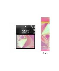 """Runail, Фольга с эффектом """"Битое стекло""""(цвет: розовый), 4х100см"""