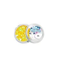 Конфетти для дизайна для ногтей (жёлтое), 11