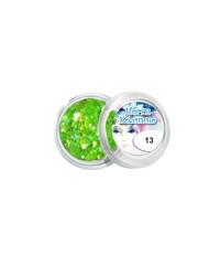 Конфетти для дизайна для ногтей (светло-зелёное), 13