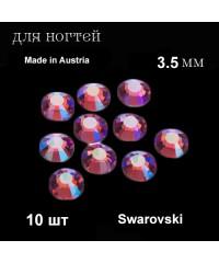 Стразы Swarovski, Австрия, квадратные, 3,5 мм. 10 шт. (розовые)