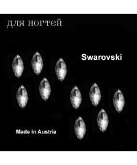 "Стразы Swarovski "" Алмазы"", 10 шт ( 2х4 мм), Рисинка"